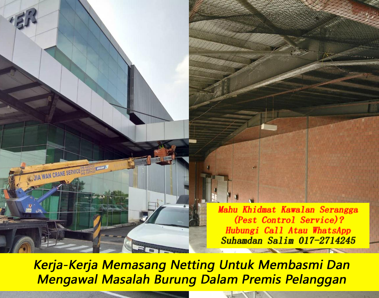 khidmat kawalan serangga burung kelawar syarikat kawalan serangga company pest control Bukit Nanas kl taman perumahan kawasan perindustrian near me felda
