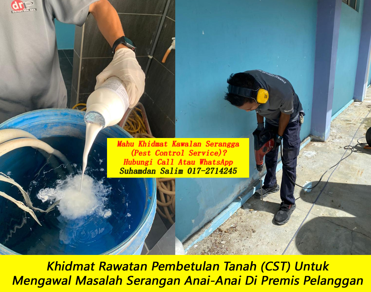 khidmat rawatan dan pencegahan masalah anai anai di Kampung Datuk Keramat kl oleh syarikat kawalan serangga company pest control kawalan anai anai yang berkesan terbaik di felda