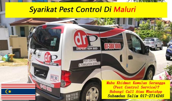syarikat drpest sdn bhd pest control company khidmat membasmi kawalan makhluk perosak semburan sanitize service covid-19 disinfection services Maluri kl