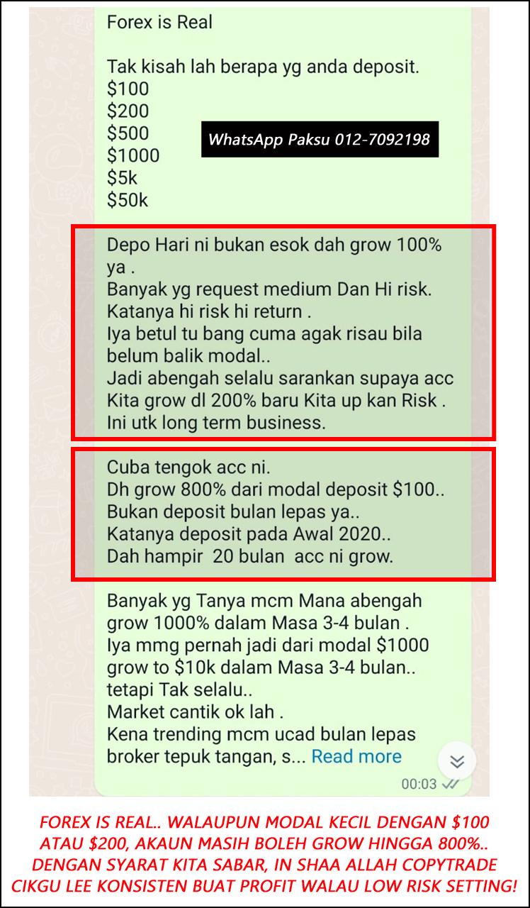 rahsia berjaya dalam forex trading walaupun bermodal kecil dengan servis copytrade malaysia terbaik profit dan keuntungan konsisten